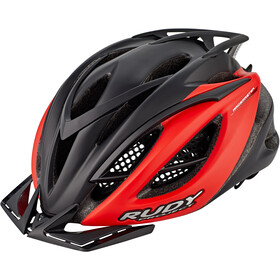 Rudy Project Racemaster Kask rowerowy, black/red (matte)